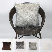Chic Fur Plush Square Throw Pillow Cases New Home Decor Sofa Waist Cushion Cover