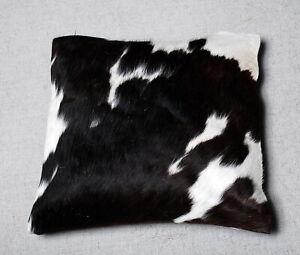 100% NEW COWHIDE LEATHER CUSHION COVER RUG COW HIDE HAIR ON CUSHION SA-3816