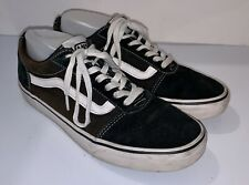 Black VANS Off The Wall Skateboard Lace Up Shoes ~ Mens 7.5