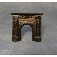 1/24th Scale Black Fireplace, Dolls House Miniatures,