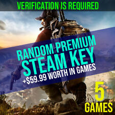 5x Random Premium Steam Key / PC Game / Guaranteed $59 / GLOBAL