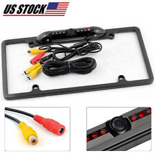 Rear View Backup Parking Camera Night Vision with US License Plate Frame for Car