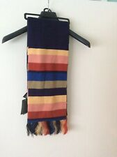 Bnwt Official  Doctor Who Striped Tardis Blue Scarf Fantastic Gift For The  Fan