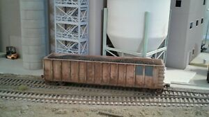 HO scale custom weathered Walthers SOUTHERN 50' high side coal gondola