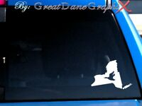 New York Duck Hunting State Vinyl Decal Sticker / Color - HIGH QUALITY