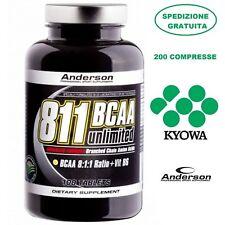 Anderson 811 Bcaa unlimited 200 cpr - Aminoacidi Ramificati Kyowa 8:1:1 + B6