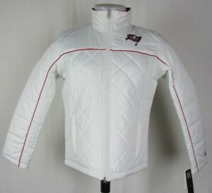 Tampa Bay Buccaneers Women's Small Winter Jacket White NFL A14