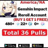 NA EU Genshin Impact Unroll Starter Account ( AR10 Guaranteed 36 Draws )
