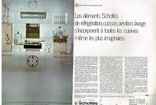 J- Publicité Advertising 1969 (2 pages) Les elements de cuisine Scholtès