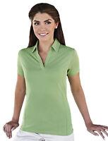 Tri-Mountain Women's Johnny Collar Short Sleeve Diamond T-Shirt. 436