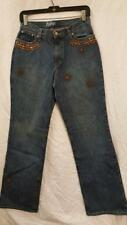Kippy's jeans Size 8 Missy fit w/copper swarovsky crystals $398 Yours for $49