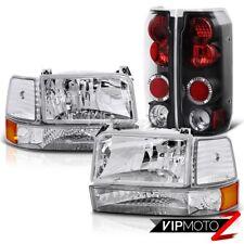 1992-1996 Ford F150 F250 F350 Bronco Clear Bumper Corner Head Lights Brake Lamps