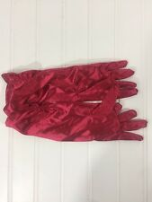 Disney Princess Costume Gloves Red Girls Size 4-6X misc14