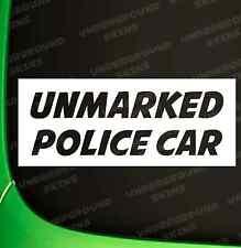 UNMARKED POLICE CAR FUNNY CAR JDM DRIFT EURO VINYL DECAL STICKER