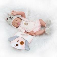 """Real Looking 20"""" 50cm Full Body Silicone Vinyl Reborn Baby Girl Doll Toddler"""