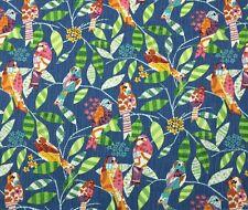"P KAUFMANN FEATHERED FRIENDS BLUEBIRD D4152 BIRDS MULTIUSE FABRIC BY YARD 54""W"