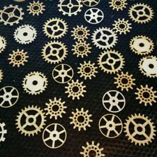 Steampunk Cogs Wooden Bundle Mixed x 10 mixed sizes.