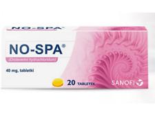 NO-SPA 40mg-bole menstruacyjne,stany skorczowe-pain menstruation 20tablets