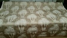 "Cone Jacquard cotton Palmetto taupe/beige palm tree fabric 57"" width 2yds BTY"