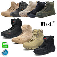 Men's Tactical Cadet Security Military Police Hiking Army Patrol Combat Boots UK
