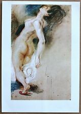 Eugene Delacroix Study Of Sardnaple Vintage Original Litho from late 1960's