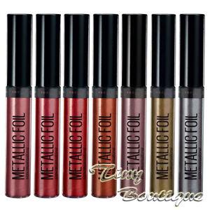 Maybelline Metallic Foil Lipstick Liquid Lip Colour Assorted Shades
