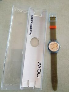 SWATCH AUTOMATIC SAN100 BLUE MATIC BRAND NEW IN BOX NOS