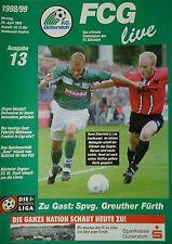 Programm 1998/99 FC Gütersloh - Greuther Fürth