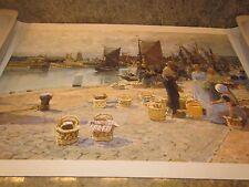 19th Century Oil Painting Reproduction Canvas Hans Herrmann harbour Vlissingen
