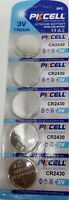CR2430 PKCELL 2430 LITHIUM BATTERIES (5 piece) 3V watch New Authorize USA Seller