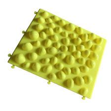 Pebble Foot Massage Pad Fitness Game Circulation Reflexology Mat Gift Yellow