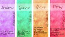 Christian Church Banners Poster Sign Serve Grow Love Pray -  SMALL 4 BANNER SET