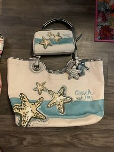 Starfish Coach Shoulder Bag With Clutch