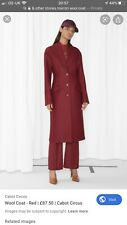 BURGUNDY WOOL COAT by & OTHER STORIES UK 10 EU 36