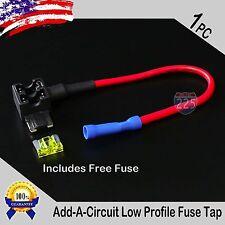 1pc 16 Gauge Copper Add-A-Circuit Low Profile Blade Piggy Back Fuse + 1A - 40A