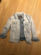 Women's UK Size 12 Blue Denim Jacket (Regular) 80s Look Hipster
