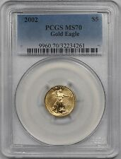 2002 Gold Eagle $5 Tenth-Ounce MS 70 PCGS 1/10 oz Fine Gold
