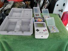 Vintage Nintendo Gameboy DMG-01 W/Faceball,Adventure Island,Super Mario Land 2