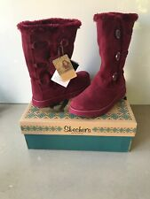 Skechers Suede Leather Winter Keepsakes-Canoodle women's boots. NWT and box
