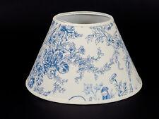 Lampenschirm  zum Aufstecken Biedermeier-Motiv blau E14 Klemmschirm Tischlampe