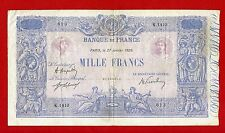 (Ref: K.141)  1000 FRANCS ( BLEU ET ROSE ) 27/01/1920 (TB+)