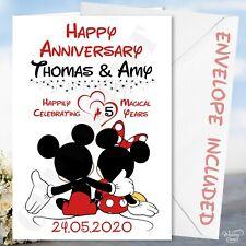 Anniversary Mickey & Minnie Mouse Card Husband Wife Boyfriend Girlfriend Disney