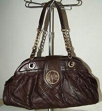 sac à mains baguette cabas KENZO en cuir marron