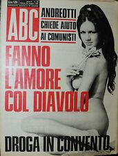"""""""ABC"""" N°20/ 16/MAG/1969 * FANNO L'AMORE COL DIAVOLO * DROGA IN CONVENTO *"""