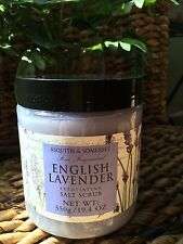 ASQUITH & SOMERSET Fragranced English Lavender Exfoliating SALT Scrub 19.4 OZ