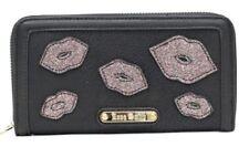 Porte-monnaie et portefeuilles deux plis noirs organiseur pour femme