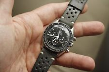 20mm MILITARY BLUE GRAY handmade Rally leather strap for speedmaster