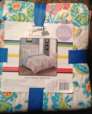 Fiesta 3pc QUILT SET RENATA  Reversible Full/Queen - NWT NEW Shams Quilted Boho