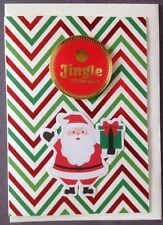 1 Hand made Xmas Card. Jingle All The Way. Postage $2 for 1 to 6 cards