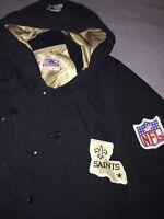 Vintage New Orleans Saints Starter Jacket - Sideline Edition - Mens XL - Black